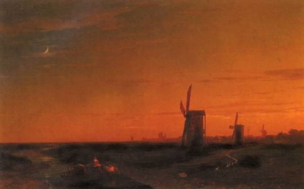 Constantinovich landscape With Windmills